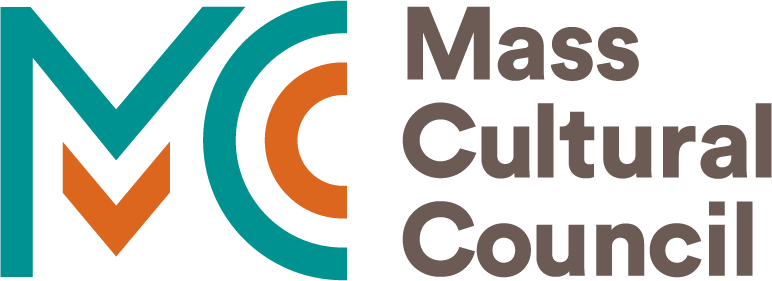 Teal and orange logo looks like MC, text reads: Mass Cultural Council